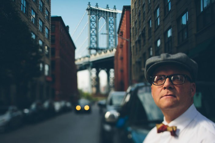 Clyde Bisbee on the streets of Brooklyn